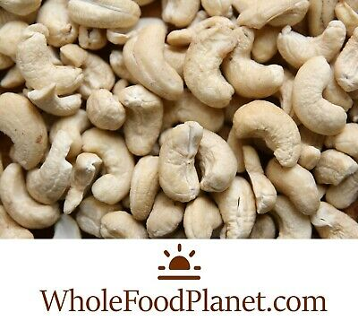 Whole Raw Cashew Nuts. Eco Friendly Packaging. Free P&P. (Best price per 1Kg)