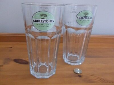 6 X Addlestones Cloudy Cider 1//2 Pint Glasses CE Marked.New /& Unused.