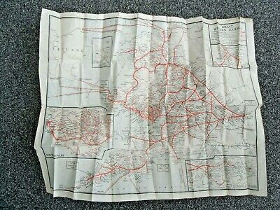The Great Western Railway network at its maximum extent. GWR c1930 old map