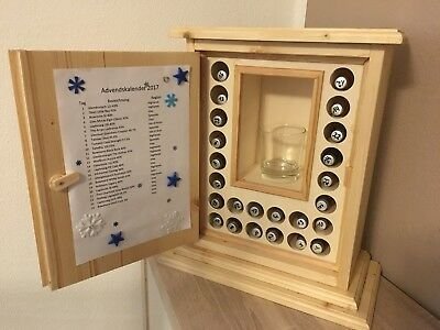 Adventskalender Whiskey / Rum Fläschchen Handarbeit