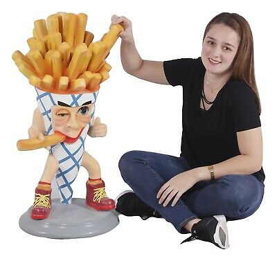 French Fry Statue - Funny French Fries Display Statue- Restaurant Decor 3'