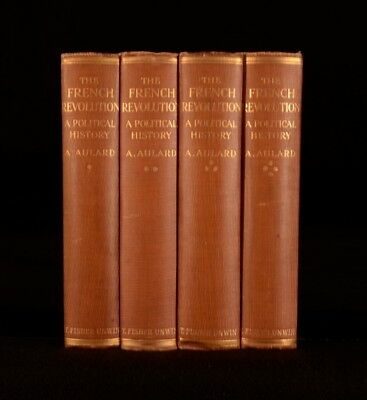 1910 4Vols Aulard The French Revolution A Political History First Edition