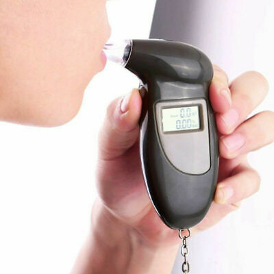 Alcohol Tester Detector LCD Display Digital Breath Analyzer with 4 Mouthpieces