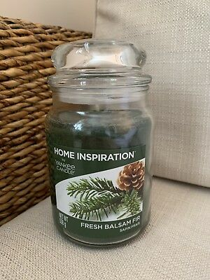 Brand New Large Jar Yankee Candle In Fresh Balsam Fir Scent