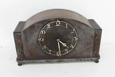 H.A.C 3657 Tabletop Vintage Antique Wooden Mechanical Chiming Mantle Clock