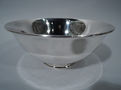 Arthur Stone Bowl - Antique Arts & Crafts Craftsman   American Sterling Silver