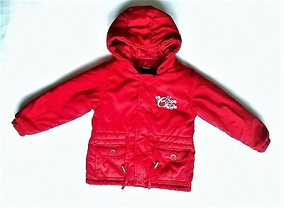 Padded Coat Jacket Red Girls Toddler United Colours Benetton 24 months / 2 years