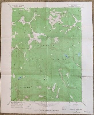 Vintage USGS Topographic Map 1966 LEE THOMAS CROSSING, OREG. Quadrangle