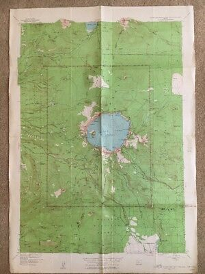 1956 USGS Topographic Map CRATER LAKE NATIONAL PARK, OREGON