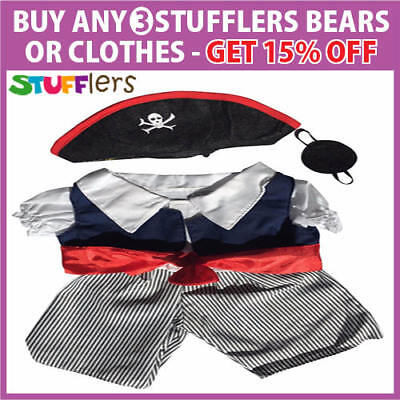 Pirate Clothing Outfit by Stufflers – Fits Medium 40cm Plush Toy