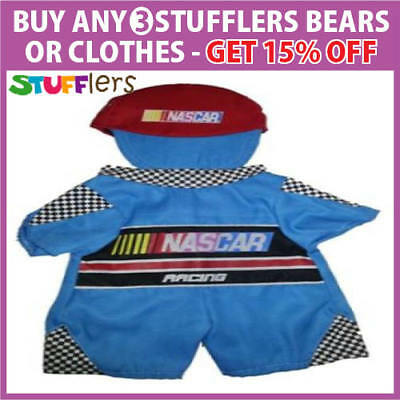 NASCAR Racing Clothing Outfit by Stufflers – Fits Medium 40cm Plush Toy