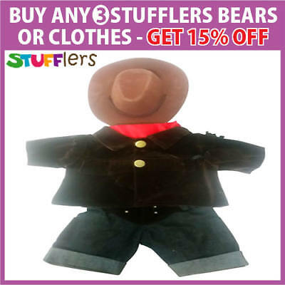 Cowboy Clothing Outfit by Stufflers – Fits Medium Bear Building Clothes