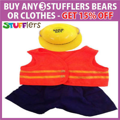 Construction Clothing Outfit by Stufflers – Fits Medium 40cm Plush Toy