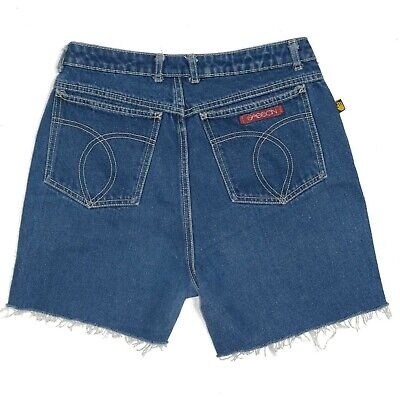 Vintage 1980's Sasson Denim Cut-Off Jean Shorts Women's Sz 13 High Rise Waist 30