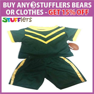 Football Clothing Outfit by Stufflers – Fits Medium 40cm Plush Toy
