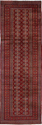 "Hand-knotted Russian Carpet 3'1"" x 9'3"" Shiravan Bokhara Traditional Wool Rug"