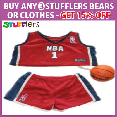NBA Basketball Clothing Outfit by Stufflers – Fits Medium Sized 40cm Plush Toys