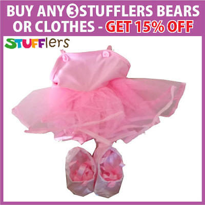 Ballerina Clothing Outfit by Stufflers – Fits Medium Sized 40cm Plush Toys