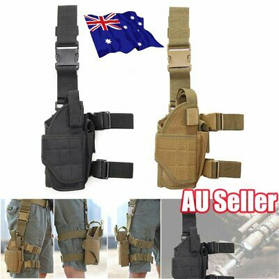 Military Tactical Puttee Thigh Gun Holster Leg Pistol Pouch Hunt Sports ON