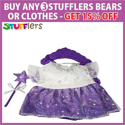 Purple Fairy Clothing Outfit by Stufflers – Fits Medium Sized 40cm Plush Toys