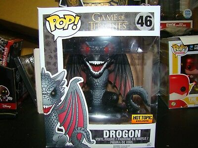 Funko Pop Game Of Thrones Drogon 6 Inch Hot Topic Exclusive --Vhtf---