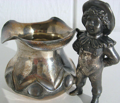 Antique Victorian Toothpick Holder Meriden Silver Plated Figural Child NO 43