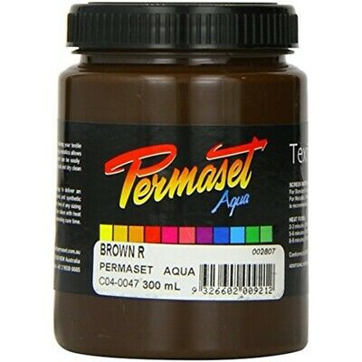 Permaset Aqua 300ml Fabric Printing Ink - Brown - Screen