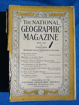 National Geographic Magazine May 1929 Vintage Ads Car Truck Advertising