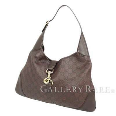 3d4af86fe2d1 GUCCI Guccissima Leather Brown Shoulder Bag Hobo 153029 Italy Authentic  5269372