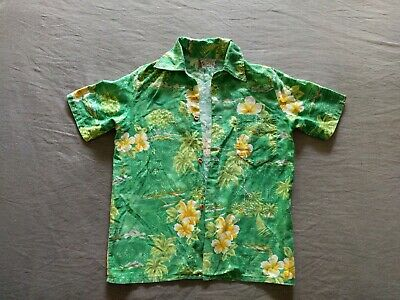Vintage Boys Tracker Cotton Hawaiian Surf Shirt