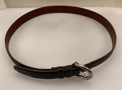 Coach Women M Belt Brown Handcrafted Glove Cowhide Leather Costa Rica Made 8504