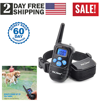 Pet Dog Training Collar Rechargeable Electric Remote LCD Shock Waterproof 1800Ft
