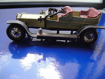 ROLLS ROYCE 1906, SILVER GHOST, MATCHBOX, Made in England by Lesney GRÜN-GOLD