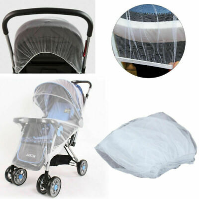 Stroller Pushchair Pram Mosquito Fly Insect Net Mesh Buggy Cover Infant Baby UK.