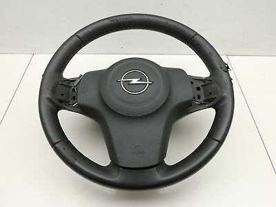 Leather Steering Wheel Airbag Streering for Opel Corsa D 06-10 13230288 13235770