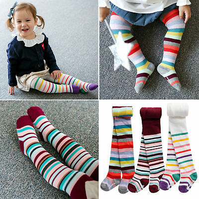 Children's TIGHTS girls stripy design cute warm