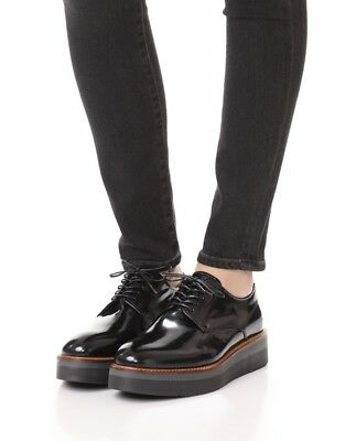394451eb20c NEW Vince  Drystan  Glazed Leather Platform Oxford - Black - Size 8.5 ...
