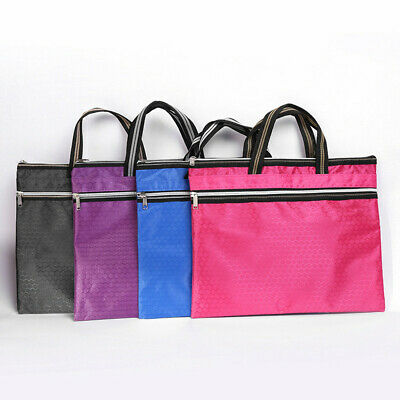 1PC Thicken Portable File Bag Zipper Bag Waterproof Folder Information Bag
