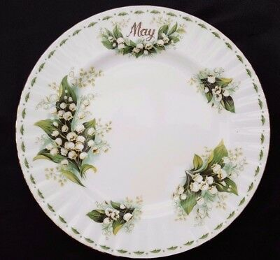 Royal Albert FLOWER OF THE MONTH 20.5 CM SALAD / DESSERT PLATE  LILY      MAY