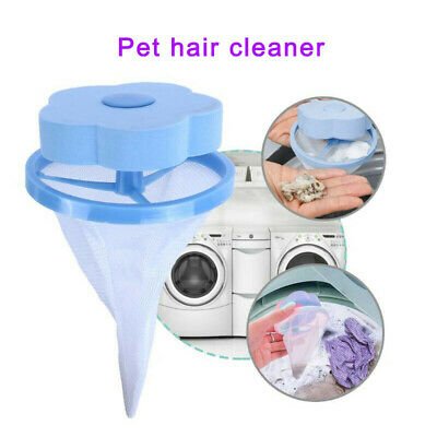 3Pcs Reusable Floating Pet Fur Catcher Hair Remover Tool for Washing Machine