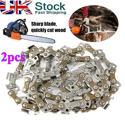 2X 14'' 52 Drive Link Gauge 0.050'' 3/8 Pitch Links Guide Bar Saw Chain Chainsaw