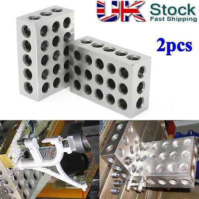 Pair Of 1 2 3'' Blocks Precision 0.0002'' Engineer Ground Hardened Milling Tool