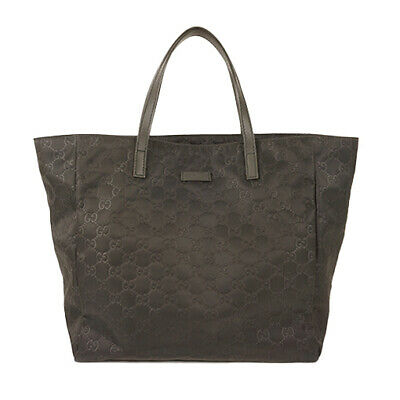 b125c9aae3d7 GUCCI GG CANVAS Tote Bag 33890 black Free Shipping [used] - $170.00 ...