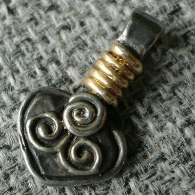 Rare Ancient Gold Silver Viking Thors Hammer Amulet Pendant C 8th / 9th.cent AD.