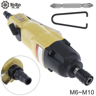 10000rpm Assembly Line Air Pneumatic Straight Type Screwdriver Double-Headed