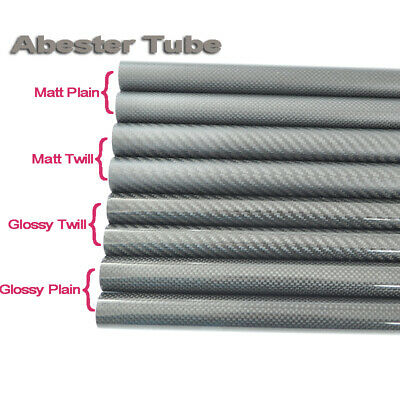 3K Carbon Fiber Tube OD 20mm 21mm 22mm 23mm 24mm 25mm x 1000mm Roll Wrapped DIY