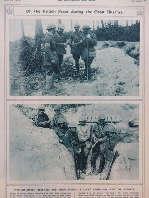1916 British Generals In Somme Trenches - Good Luck Horseshoe Wwi Ww1