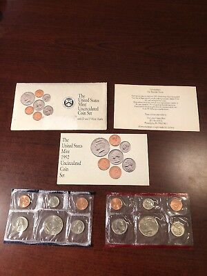 1992 Annual US Mint P and D Uncirculated 10 Coin Set Complete BU