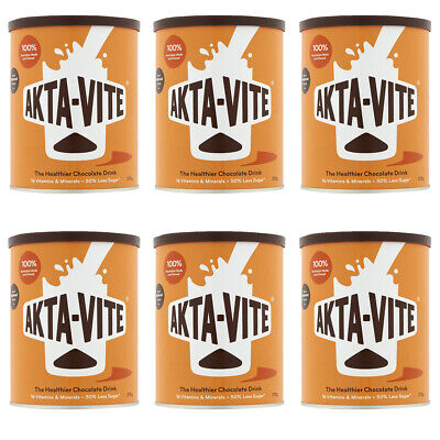 Akta Vite Drinking Chocolate 375g (6 Tins) More than just a drink