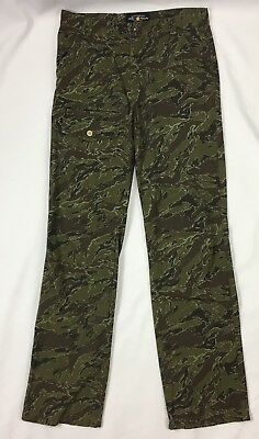 Lucky Brand Girls Youth Size 16 Camp Camouflage Print Cargo Pants Jeans